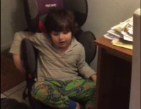 Tobi (5), Non-Verbal Autistic, vocalizing for the first time with the help of the music